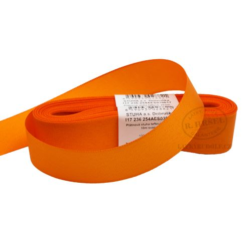 Stuha taftová šíře 25mm 30617-oranžová, 10m