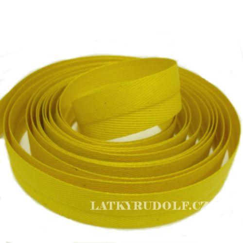 Keprovka - tkaloun šíře 20mm 4202-žlutá