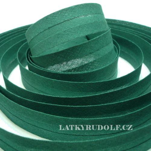 Šikmý proužek 20mm tm.zelený