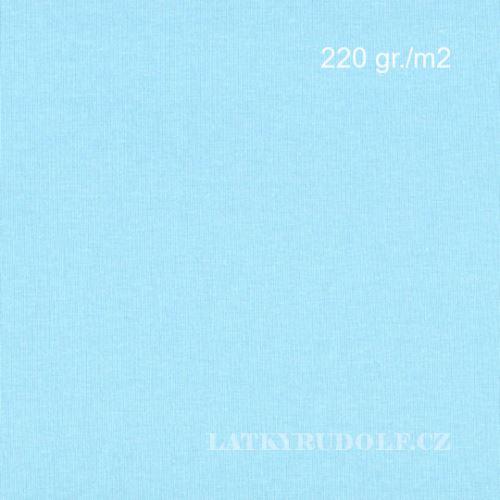 Látka Bavlněný úplet 220g sv.modrý 142524
