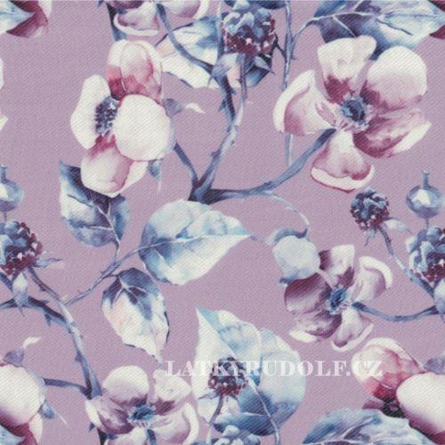 Látka polyesterový úplet - tenká riflovina 169102