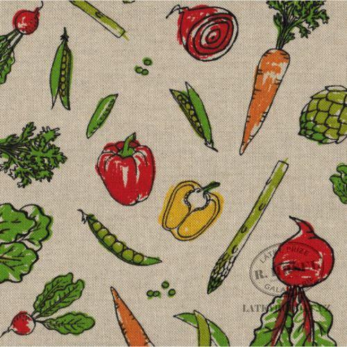 Látka Zelenina na pevné režné 103022