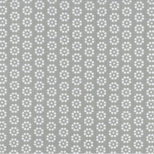 Látka Kruhová kytička šedá 103347