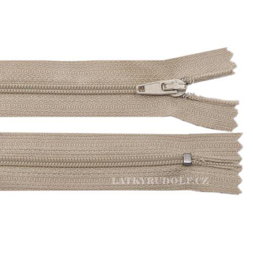 Zip spirálový 3mm nedělitelný 12cm 298K-béžová