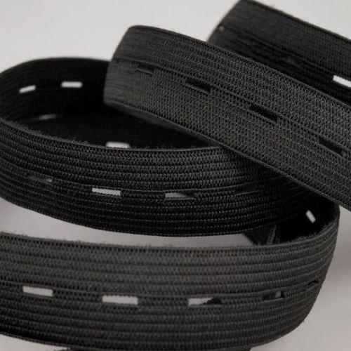 Pruženka 20mm dírková  černá