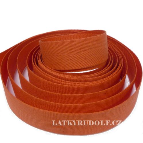 Keprovka - tkaloun šíře 20mm 4302-oranžová