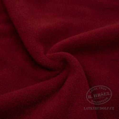Látka Fleece antipilling uni_71-deep red