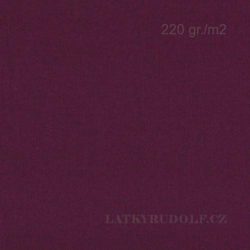 Látka Bavlněný úplet 220g fialový 142523