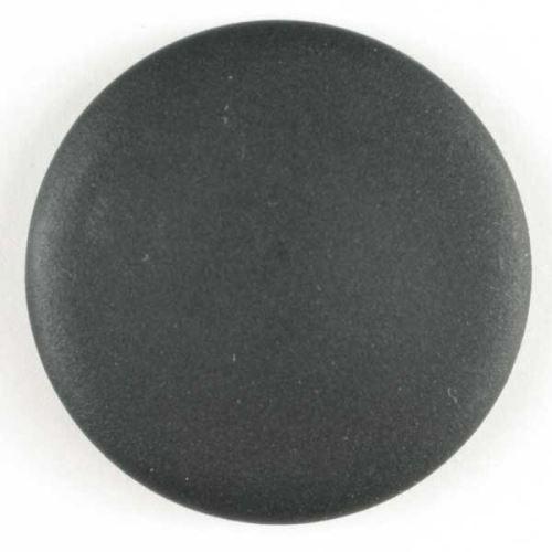 Knoflík Dill 23mm černý hladký s ouškem 250689
