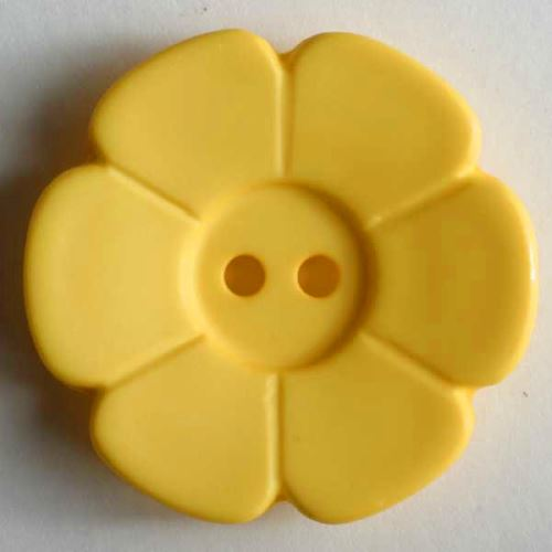 Knoflík Dill 15mm kytička žlutá 219098
