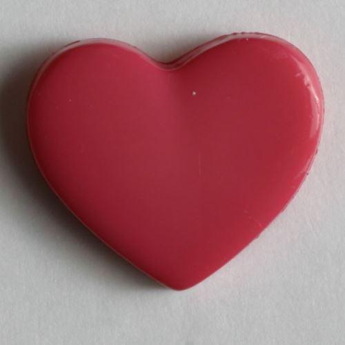 Knoflík Dill srdce růžové 13mm 170346