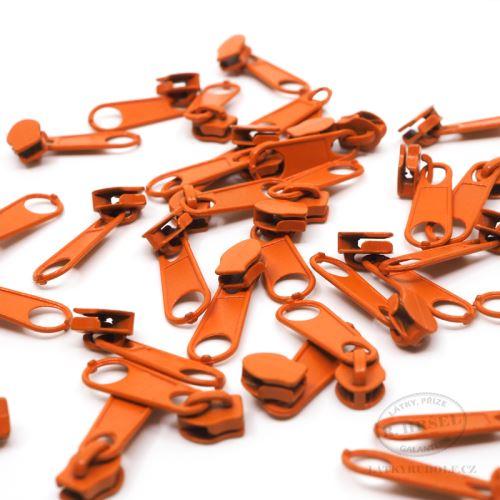 Jezdec ke spirálovému zipu 3mm 158-oranžový