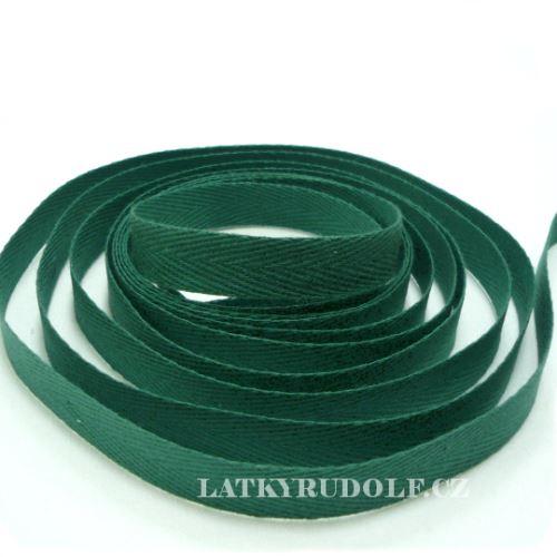 Keprovka - tkaloun šíře 10mm 7807- tmavě zelená