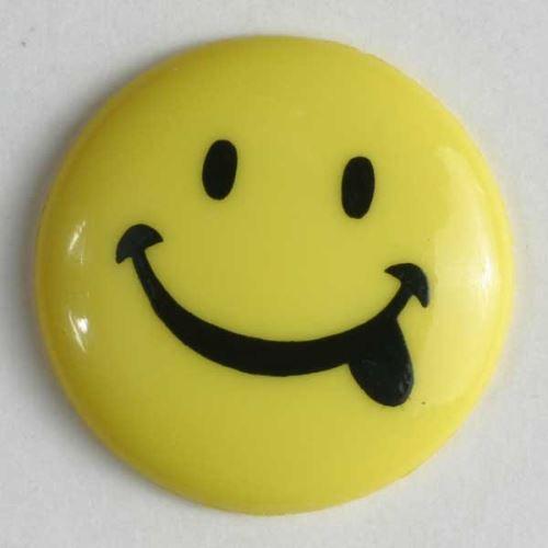 Knoflík Dill 15mm smajlík žlutá 211068