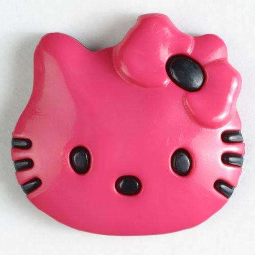 Knoflík Dill 20mm kočka růžová 280872