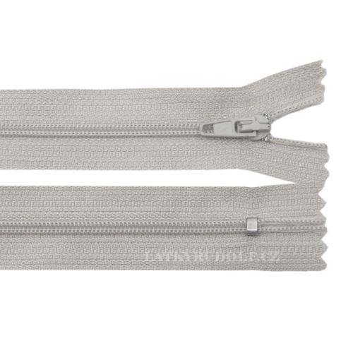 Zip spirálový 3mm nedělitelný 300K-světle šedá