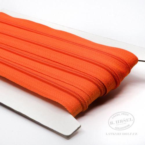Zip spirálový v metráži 3mm 158-oranžový