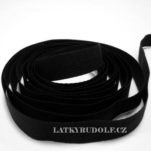 Keprovka - tkaloun šíře 16mm 7001-černá