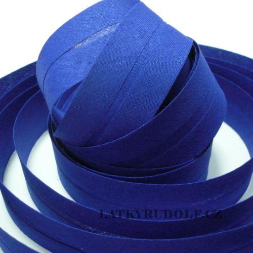 Šikmý proužek 30mm královsky modrý