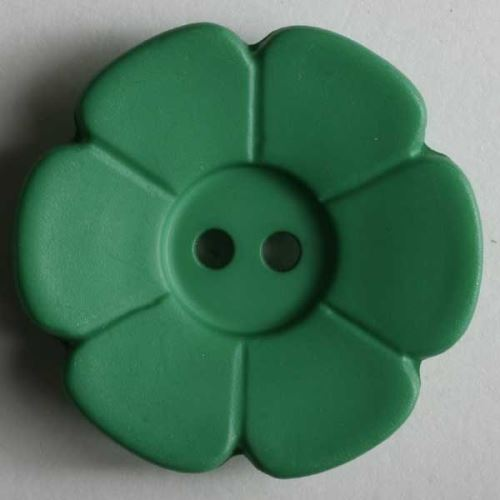 Knoflík Dill 15mm kytička zelená 219090