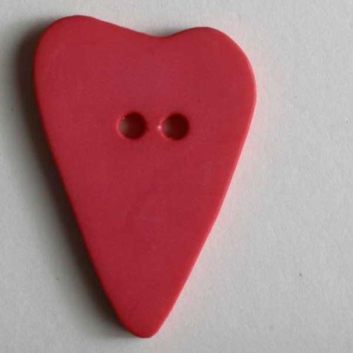 Knoflík Dill 28mm srdce tm.růžové 289069