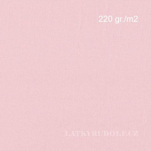 Látka Bavlněný úplet 220g růžový 142521