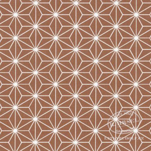 Látka Hvězdice Casual hnědé (cassonade) 103515