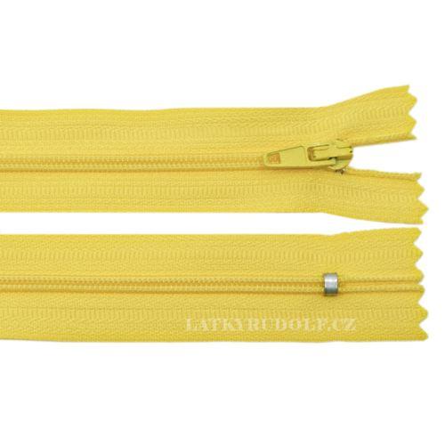 Zip spirálový 3mm nedělitelný 12cm 109K-žlutá