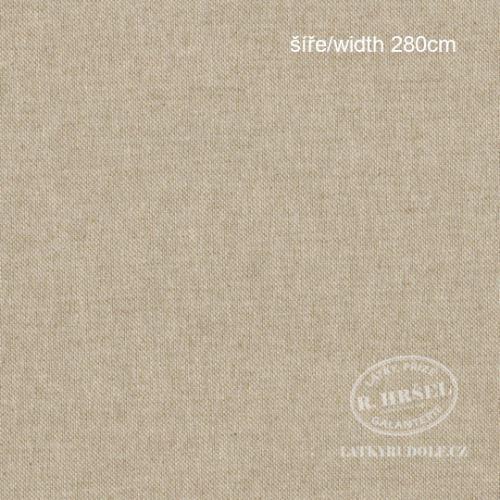 Látka pevná režná béžovo-lněná šíře 280cm 241010