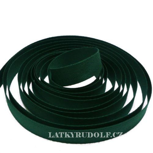 Keprovka - tkaloun šíře 16mm 7807- tmavě zelená