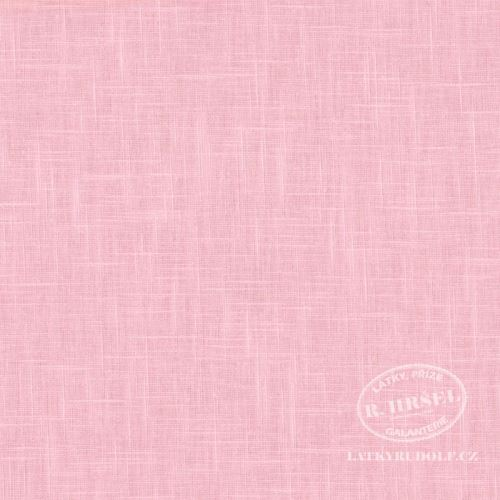 Látka Ramie len růžový 168511