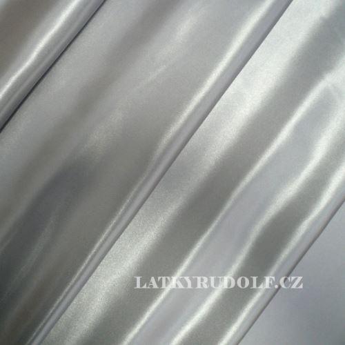 Látka Satén polyester stříbrný 160018
