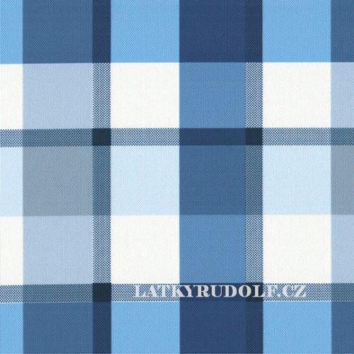 Látka Kočárkovina kostka modrá 175054