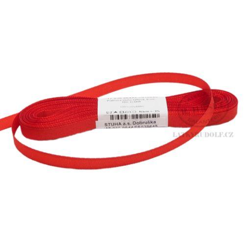 Stuha taftová šíře 6mm 30645-červená