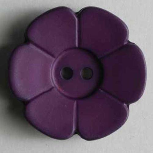 Knoflík Dill 15mm kytička tm.fialová 219089