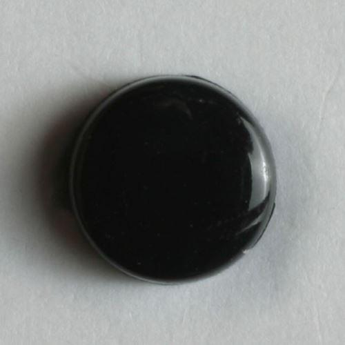 Knoflík Dill 7mm s oušk. černý 150360