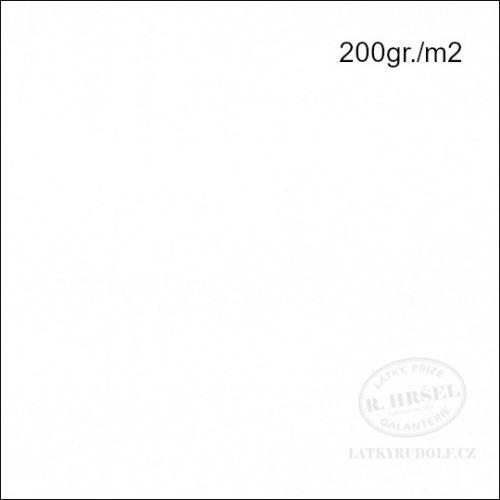 Látka Bavlněný úplet 200g bílý 143050
