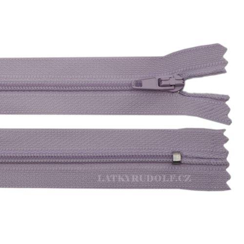 Zip spirálový 3mm nedělitelný 18cm 164L-světle fialová
