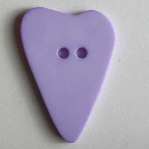 Knoflík Dill 28mm srdce sv.fialové 289062