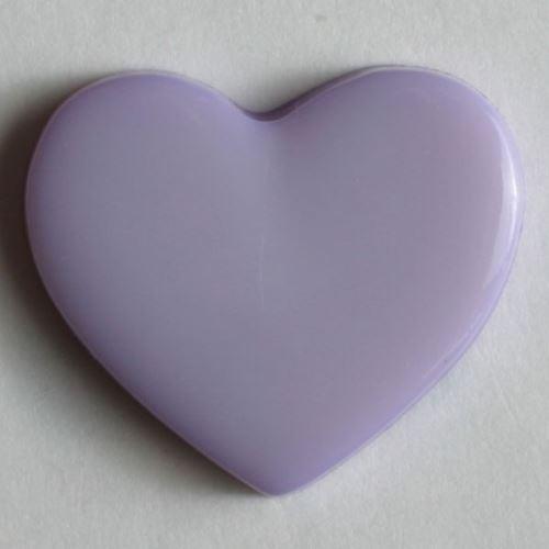 Knoflík Dill srdce fialové 13mm 170378