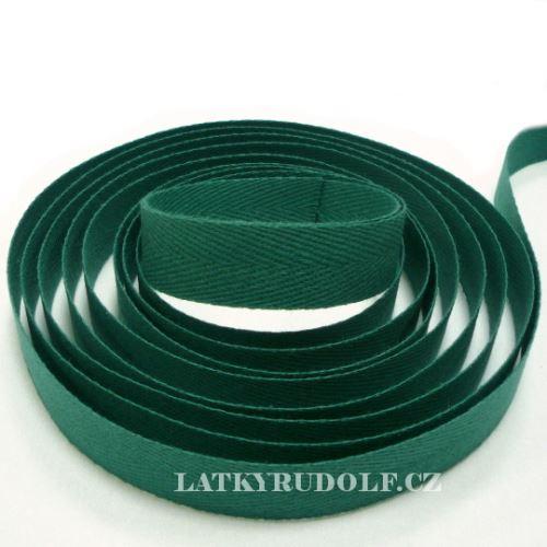 Keprovka - tkaloun šíře 14mm 7807- tmavě zelená