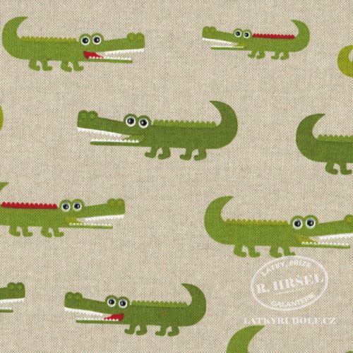 Látka Krokodýli na pevné režné 201576