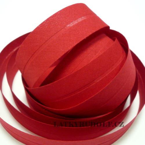 Šikmý proužek 30mm červený