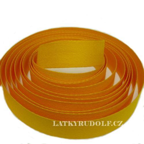 Keprovka - tkaloun šíře 20mm 4301-tmavě žlutá