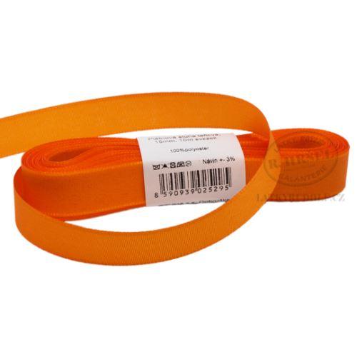 Stuha taftová šíře 15mm 30617-oranžová, 10m