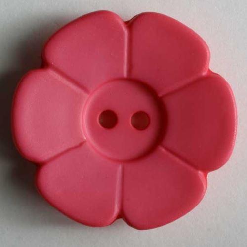 Knoflík Dill 15mm kytička tm.růžová 219094