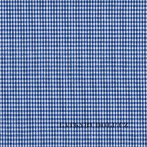 Látka Kanafas kostička 3mm modrá 135034