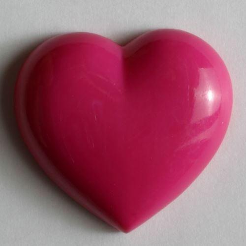 Knoflík Dill 14mm srdce růžové 211298