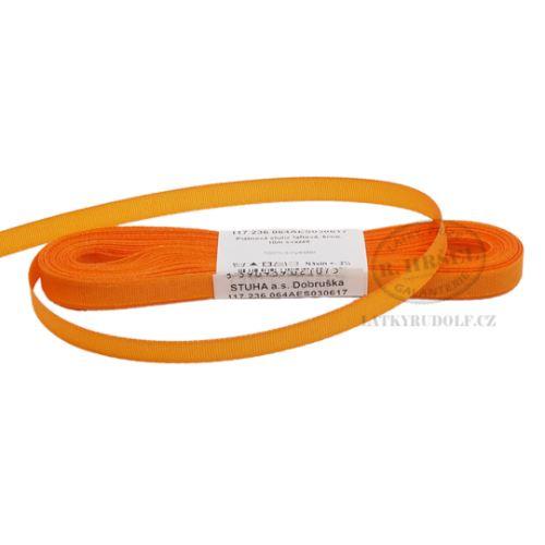 Stuha taftová šíře 6mm 30617-oranžová, 10m
