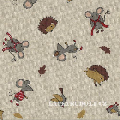Látka Myška a přátelé na pevné režné 102807